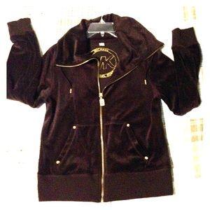 Michael Kors velour zip up sweatshirt.